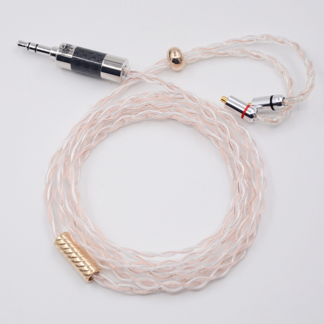 NICEHCK Top Quality 3.5mm Silver With Copper Mixed Earphone Upgrade Cable MMCX Cable For Shure SE535 SE846 UE900 DZ7 LZ A4
