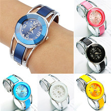 Women Watch Fashion Womens Alloy Band Quartz Analog Round Dress Bracelet Wrist Watch Gift dropshipping free shipping  #20