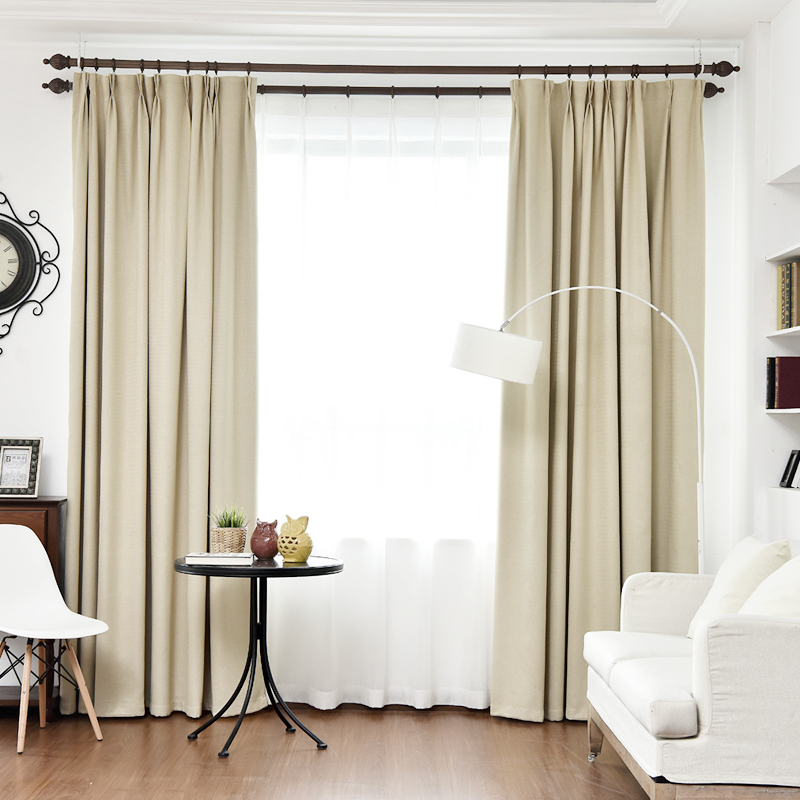 byetee blackout cortinas para la sala de estar lino color slido grueso simple