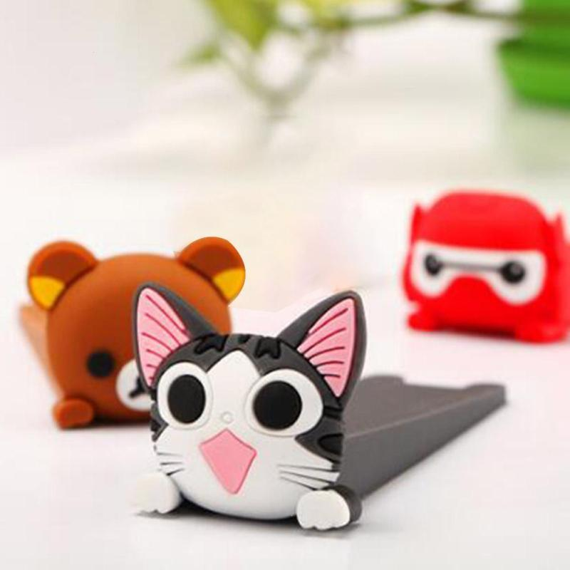 Rubber door stopper 2pcs/lot baby safety Doorstop Home decoration Cartoon Door Stop Prevent Finger Injuries tool D3 защитные накладки для дома happy baby фиксатор для двери pull out door stopper