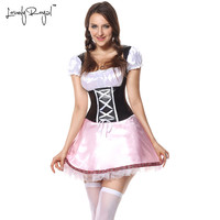 LovelyRoyal 2018 New summer sexy costumes medieval dress circus costume carnaval sexy cosplay maid dress erotic women's clothing