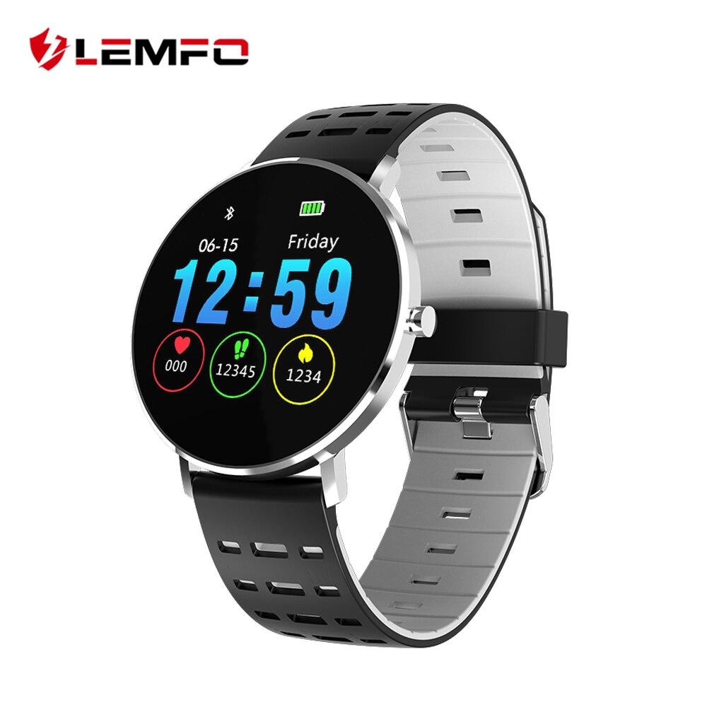 LEMFO L6 Plein Écran Tactile Plus Mince Montre Smart Watch IP68 Étanche De Sports Multiples Mode DIY Montre Visage 250 mah Remise En Forme Bracelet