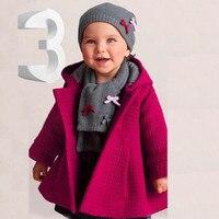 Moda Bebek Yürüyor Kız Sonbahar Kış Sıcak Pembe Hoodded Palto Pelerin Ceket Kalın Sıcak Giyim roupa infantil casaco menina