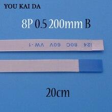 Cabo flexível ffc fpc 1 4 peças, para asus a55v k55v, touchpad, comprimento do cabo 20cm, 8 pino 0.5mm tipo b 8pin