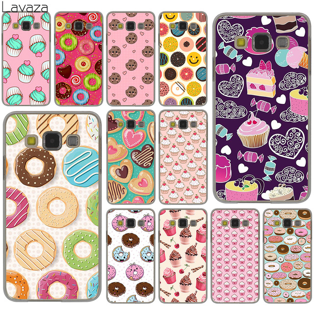 Lavaza Tasty Cup cake Donuts dessert heart food Hard Case for Samsung Galaxy S10 S10E S8 Plus S6 S7 Edge S9 Plus Cover