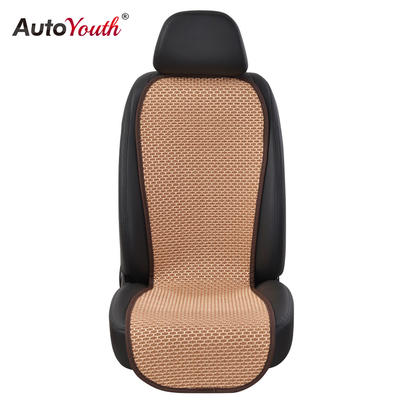 цена на AUTOYOUTH 1PC Ice Silk Breathable Seat Cushion 4 Colour Car Seat Cover Summer Universal Auto Seat Covers Protector Car Styling
