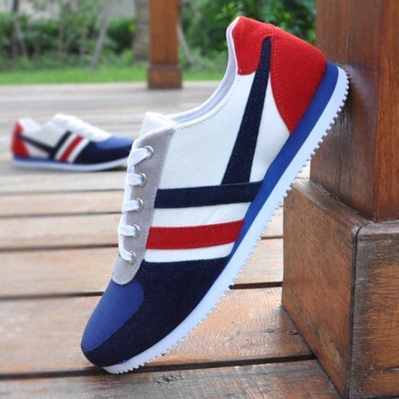 2019 Yeni Erkek rahat ayakkabılar Lac-up erkek ayakkabısı Hafif Rahat Nefes Yürüyüş Spor Ayakkabı Tenis Feminino Zapatos Dec21