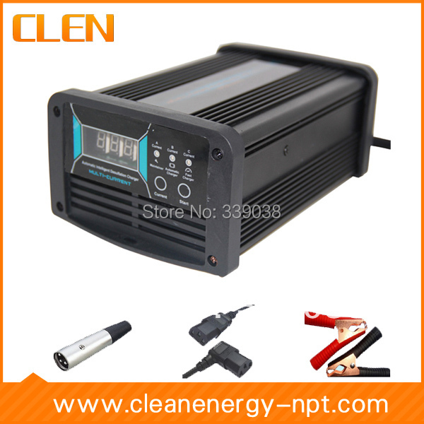 CLEN 12V 5A/10A/15A Car Battery Charger Voltage Switchable Battery Charger Intelligent Reverse Pulse Charging it8712f a hxs