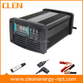 Clen 12 V 5A / 10A / 15A cargador de batería de coche cargador de batería cambiable voltaje inteligente pulso inverso de carga
