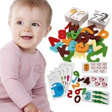Baby Wooden Puzzle Letter Digital Card Kids Numbers Account Animals Pattern Learning Early Educational Toys Developing
