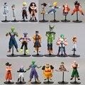 20 unids/lote japón Anime Dragon Ball Z figura de acción del PVC colección modelo juguetes Dragonball figuras mejor regalos de cumpleaños para los niños