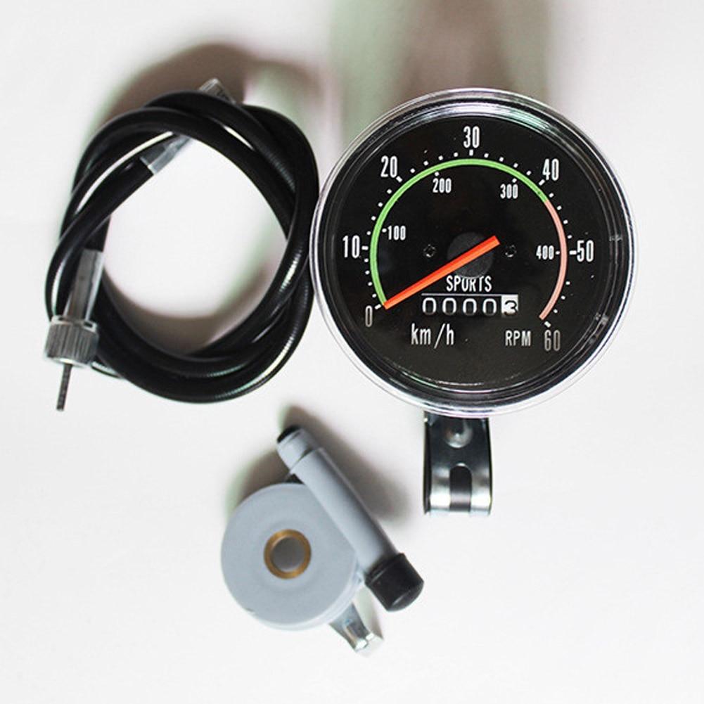 Bicycle Speedometer Classical Mechanical Road Mountain Bike Speedometer Cycling Odometer Stopwatch Waterproof Speedometer