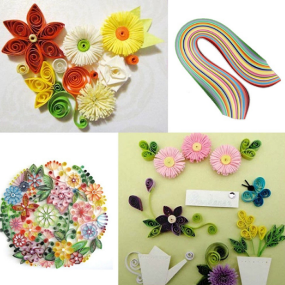 DIY 26 Colors 260 Stripes Quilling Paper Assorted Color Origami ...