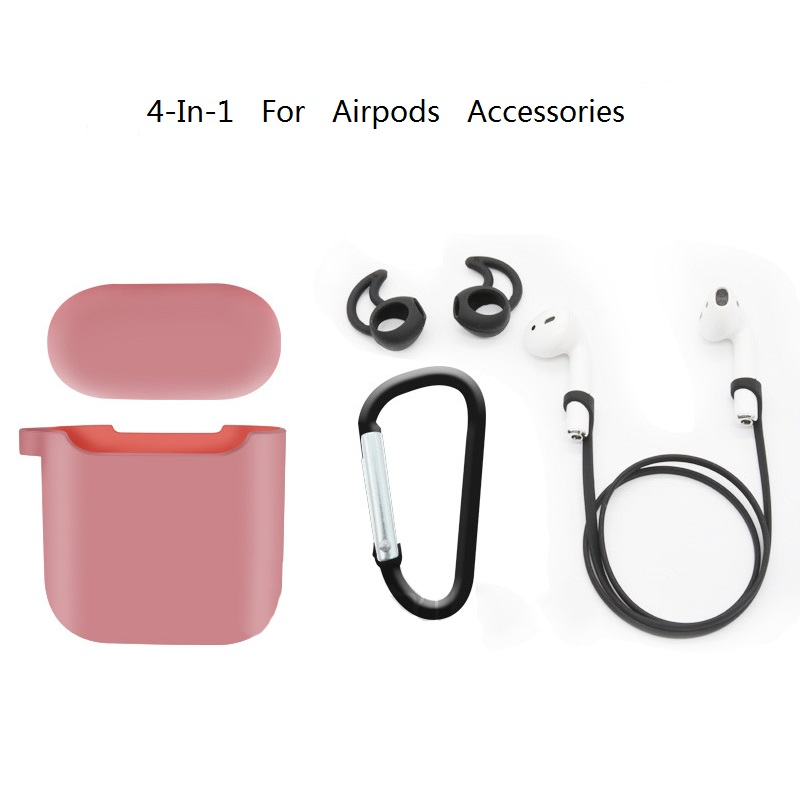 RBAYSALE 4 In 1 For Airpod Case Silicone Headphone Cover