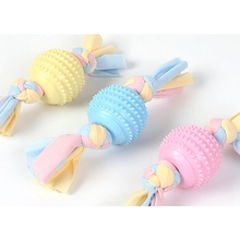 Pet Dog Bone Rope Interactive Chew Toy Dog Molar Teeth Cleaning Toy Bite Resistant Pet Supplies Chew Knot Toy