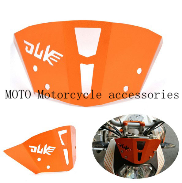 Motorcycle Windscreen Orange Motorcycle CNC Windshield Windscreen For KTM Duke 125 200 2012-2016 Duke 390 2013 2014 2015 2016 free shipping aluminium wave motorcycle accessories front brake disc rotor disk for ktm 125 200 390 duke 2013 2014