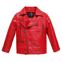 Toddler Winter Jacket For Baby Girls And Boys Leather Jackets Red Black Pink Costume Waterproof Coat