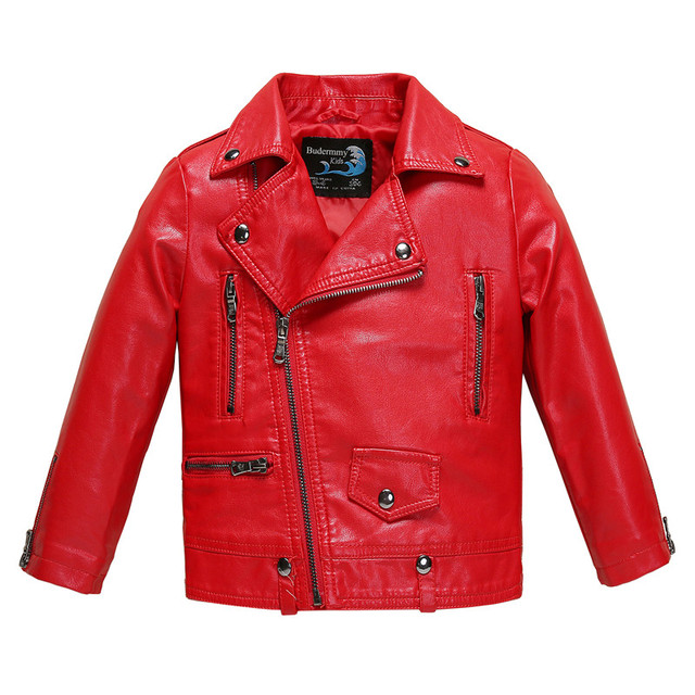 e209099d4 Winter Jacket for Girls and Boys Leather Jackets Red Black Pink ...