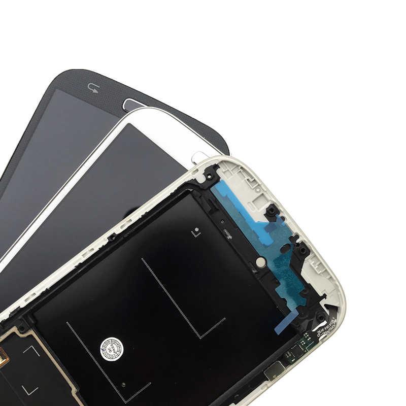 """عالية الجودة 5.0 """"شاشات lcd لسامسونج غالاكسي S4 شاشة الكريستال السائل مع الإطار i9500 i9505 i9506 مجموعة المحولات الرقمية لشاشة تعمل بلمس استبدال"""