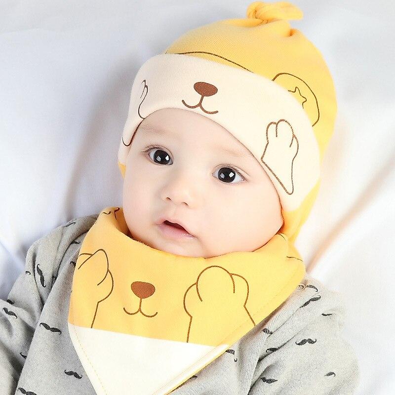 Weich Kleinkind Unisex Neugeboren Beanie Oben Baby-Hut Baumwolle Infant Cap