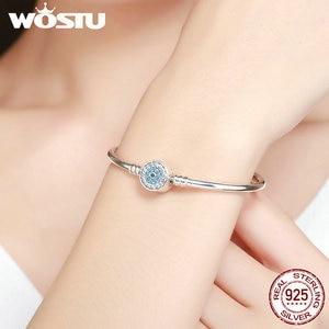 Image 5 - WOSTU 100% 925 Sterling Zilver De Oog Van Samsara Bangle Voor Vrouwen Fit DIY Charm Armbanden Mode sieraden CQB012