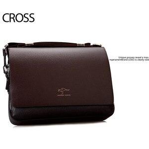 Image 4 - New Arrived luxury Brand mens messenger bag Vintage leather shoulder bag Handsome crossbody bag handbags Free Shipping