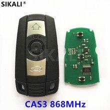 Chave automotiva remota smart, controle remoto para bmw cas3, sistema 868mhz, para séries 1/3/5/7 x5 x6 z4