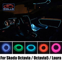 Car Styling 9 Meter EL Wire For Skoda Octavia II A5 / Octavia5 / Laura  / Romantic Atmosphere Lamp / Decoration Cold Light Line