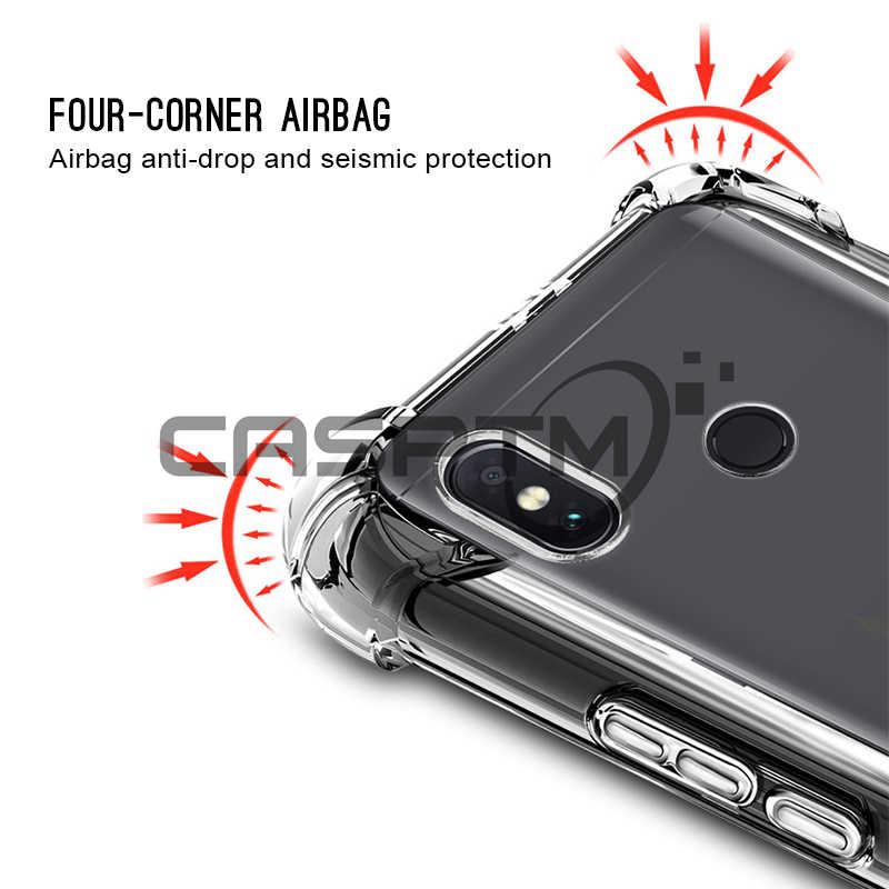 CASPTM przezroczysty telefon Anti-knock obudowa do Xiaomi mi A2 Lite 8 SE A1 Pocophone F1 etui na Xiaomi czerwony mi uwaga 6 pro 5 Plus 6A