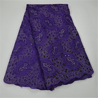 Very High Quality African Big Swiss Voile Lace Heavy Weight Swiss Cotton Lace Fabric Embroidered Material For Women Dressing 30