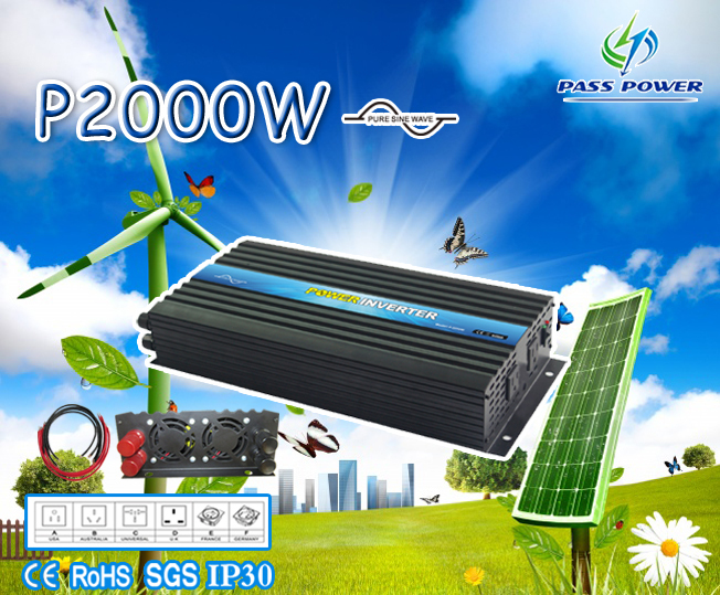 Electrical Equipments & Supplies dc 12v/24v/48v To Ac 100v-120v/220v-240v 2000va/4000va Pure Sine Wave Solar Inverter,free Shipping Colours Are Striking Dependable Ce&rohs Approved Home Improvement