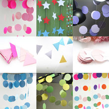 Hanging Ornaments Paper Flower Ribbon Star Circle Five-Pointed Stars Origami Star Pendant Party Decoration(China)