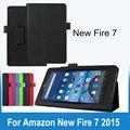 """Folio Slim Fit Premium PU Caso Capa de Couro para Amazon Fogo Novo 7 Tablet (vai Caber Apenas Fogo 7 """"exibição de 2015 ª Geração)"""