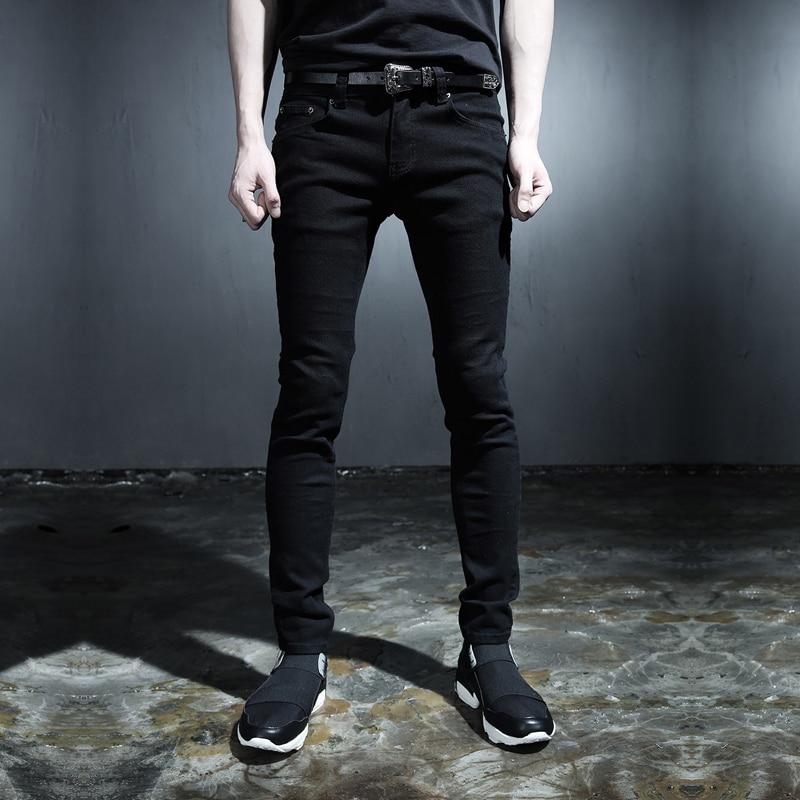 2015 new punk style trousers Men s Black white skinny jeans wind Harajuku style fashion Slim