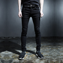 2015 new punk style trousers Men's Black  white skinny  jeans wind Harajuku style fashion Slim pants