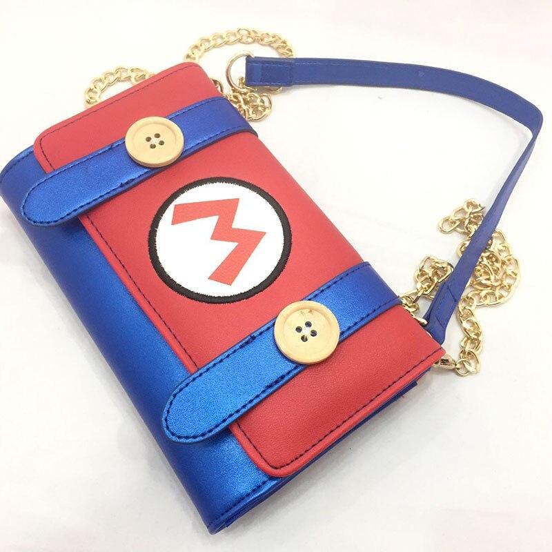 Juego clásico Super Mario Messenger Bag PU de cuero monedero largo - Bolsos - foto 1
