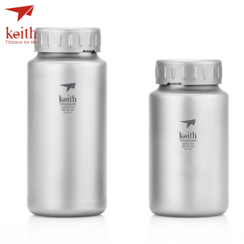 Keith Titanium Large Kettle Non-threaded Kettle With Bag Large Capacity Outdoor Camping Bottles 900ml 1200ml keith ti5338 ultralight titanium bowl with large capacity 900ml
