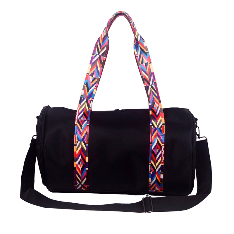 Rainbow Color Straps Women's Fitness Gym Sports Bag