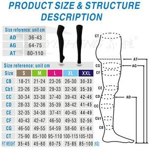 "Image 5 - דחיסת התאוששות ירך שרוול (1 זוג) תמיכה רפואית צינור 20 30 מ""מ כספית ירך גבוהה דחיסת גרביים עם סיליקון בנד"