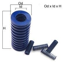 Od 8mm Id 4mm Light Duty Blue Spiral Stamping Compression Die Spring