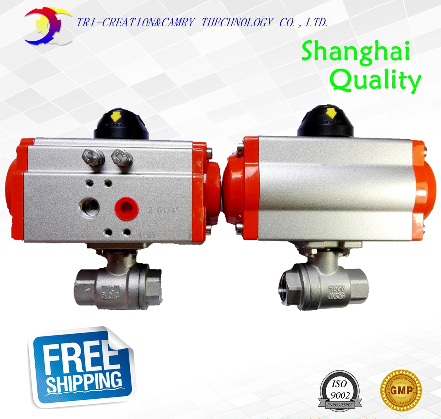 1/2 DN15 pneumatic female ball valve,2 way 304 screwed/thread stainless steel ball valve_double acting AT straight ball valve 3 phase solid state relay ssr dc ac 25da