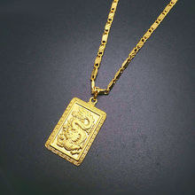 2016 Fashion Real 24K Gold Plating Necklace Pendant Man Jewelry Dragon 18k Gold Chain Hiphop Jewelry Rock style in YA247