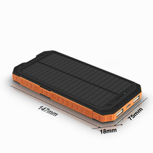 Power Bank 10000mAh Rechargeable External Battery 2.1A/5V LED light Solar Panel Charging Solar Power Bank цена 2017