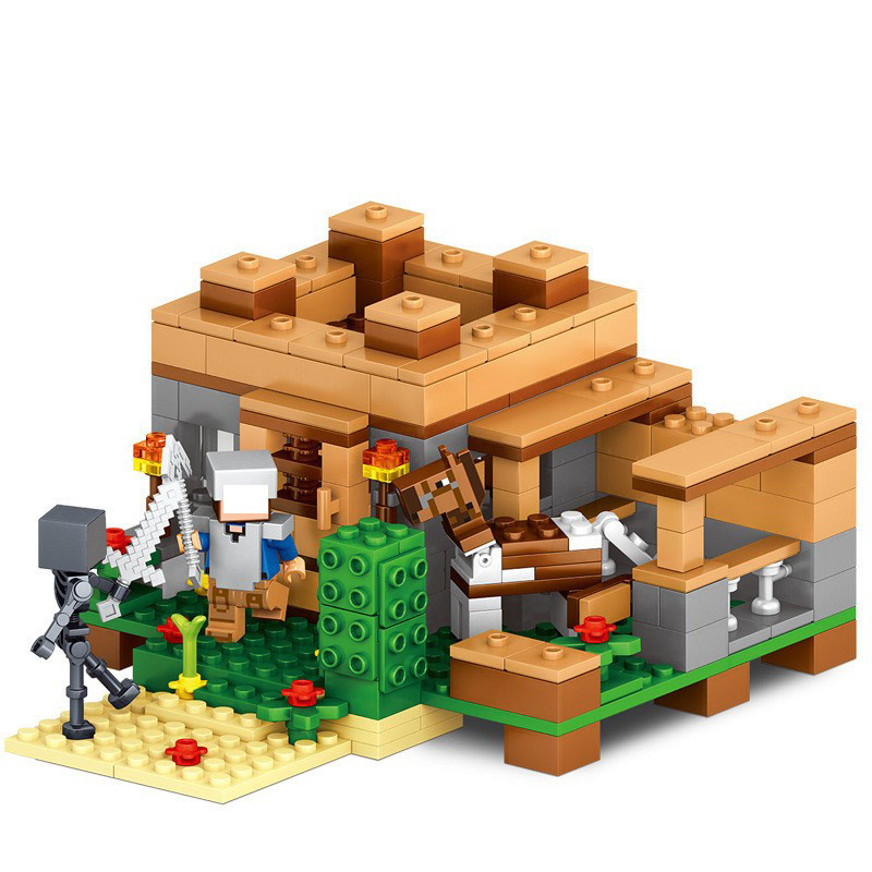 309 pcs village magasin smartable blocs de construction de mon monde minecrafted compatible lego figurines brique