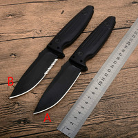 HOT POH A89 Fixed Blade Knife With Sharper Rope Cutter Camping Hunting Survival Tactical Bushcraft Knives Multitool And K sheath