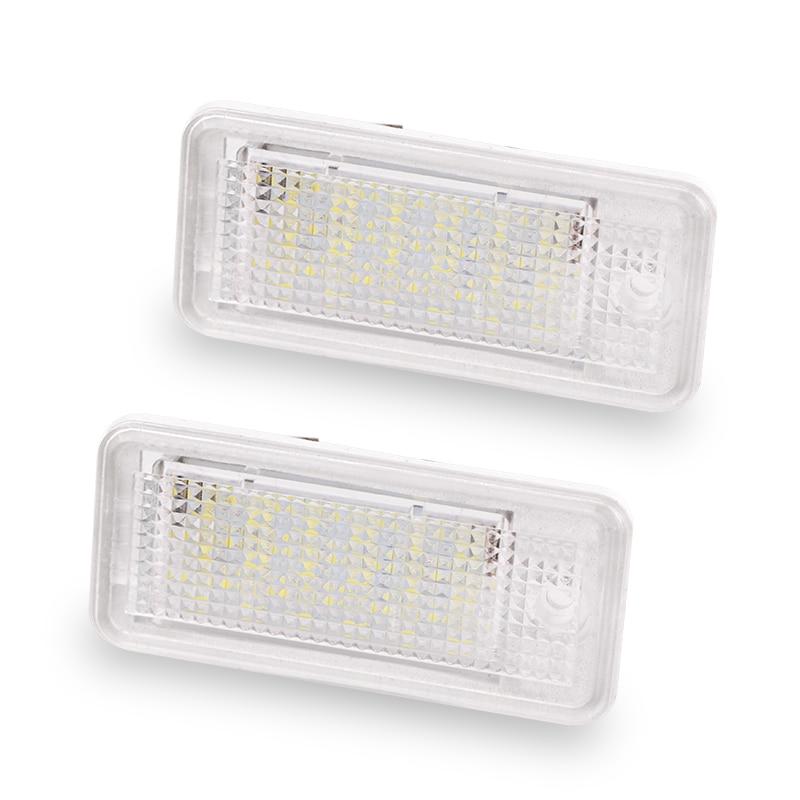 2PCS 18 LED 6000K License Number Plate Light Lamp12V  For Audi A3 S3 A4 S4 B6 B7 A6 S6 A8 Q7 NO Canbus Error 18smd 6000k led license number plate light lamp for audi a3 s3 a4 s4 b6 b7 a6 s6 a8 q7 no canbus error 144