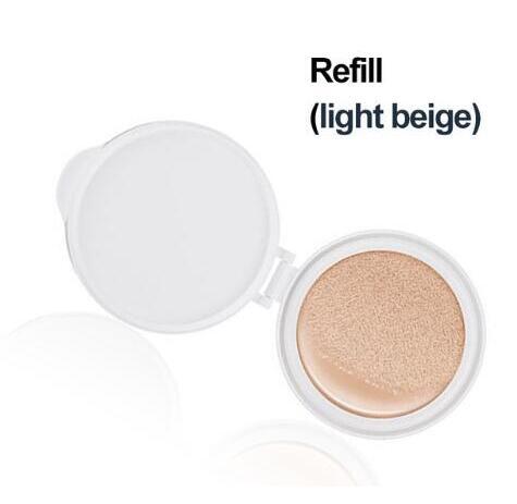 BIOAQUA воздушная Подушка BB крем изоляция BB Обнаженная консилер контроль масла увлажняющая Жидкая Основа CC крем - Цвет: Light beige refill