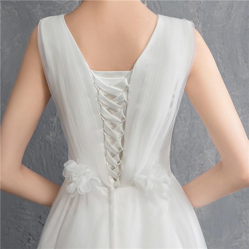 Image 5 - New Arrival Illusion korean style Tulle A Line Wedding Dress 2020  Double shoulder V neck Lace Bridal Dress Marriage Floor LengthWedding  Dresses