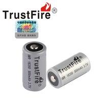 4pcs/lot High Capacity Trustfire IMR 18350 800mAh 3.7V Li-ion Battery Rechargeable Batteries For e-cigarette