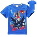 2016 New Superman Short Sleeves Kids Boys T-shirt Top Tees Clothing Casual Baby Boys Clothing for 4-12yrs Boy 5pcs/lot Wholesale